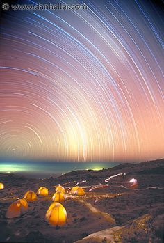 Star Trails at 16,000 above Mt. Kilimanjaro
