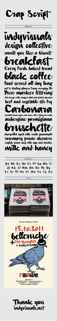 Crap Script / Typeface by til01 , via Behance