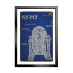 R2D2 Schematic Poster
