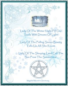Winter, Magickal Moonie's Sanctuary