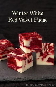 The Café Sucré Farine: Winter White Red Velvet Fudge