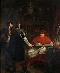 Cardinal Wolsey Refusing to Deliver up the Seals of His Office