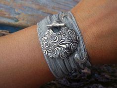 Floral silk wrap bracelet by HappyGoLicky, $49.50