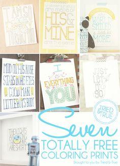 Seven Free Printables