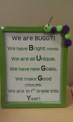 Another class sign :) And, a cute DIY frame!