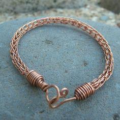Copper Viking Knit Bracelet - for a small wrist | WagonerWireWorks - Jewelry on ArtFire