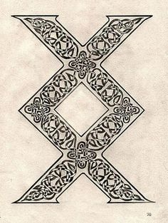 "Drawing this Rune may mark a time of joyful deliverance, of new life, a new path. A Rune of great power, receiving it means that you now have the strength to achieve completion, resolution, from which comes a new beginning.""  -Ralph H. Blum  This would make an amazing tattoo...."