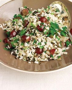 Wild-Rice Pilaf with Rosemary and Red Grapes Recipe