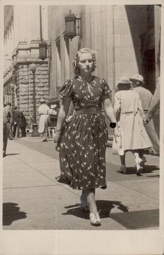 A wonderfully stylish young woman on the streets of East Vancouver, 1936. #vintage #1930s #fashion #Canada
