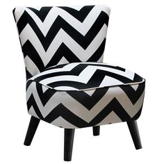 I pinned this Chevron Vanity Chair in Black from the Skyline event at Joss and Main!