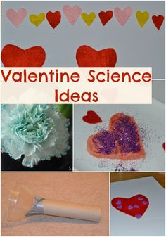 Lots of fun Valentine Science Activity ideas for kids. #Valentine #Science