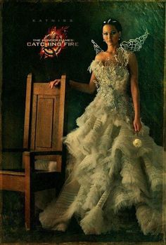 "Jennifer Lawrence as Katniss in ""The Hunger Games: Catching Fire"""