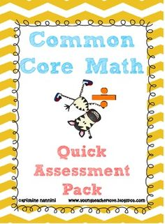 Common Core Math Problems Quick Assessment or Homework/Morning Work