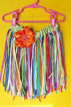 Ribbon Skirt craft, hawaiian idea, ribbon skirt, dressup, dress up, divas, color ribbon, hawaiian tutu, hula skirt
