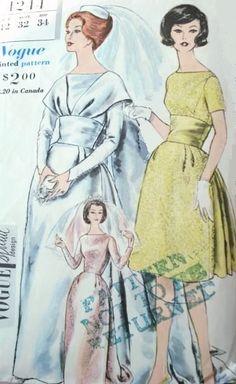 Vintage Vogue wedding dress pattern