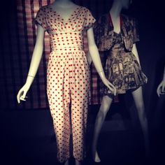 #playsuits from the #forties and #fifties at #newyork #fit #exhibition