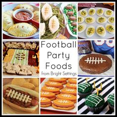 Football Party Food Ideas -- great football themed ideas for your next game day party!