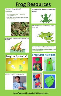 Frog Resources for Elementary Grades from Learning Ideas - Grades K-8