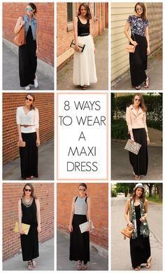 Penny Pincher Fashion - 8 ways to wear a maxi dress