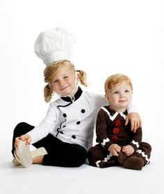 Halloween Costume Idea: Baker and Gingerbread Boy