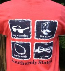 Southernly Stated Shirt want! fashion, life, cloth, shirts, state shirt, southern bell, southern sorority style, closet, southern state