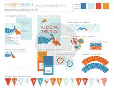 Benutzerdefinierte Dinosaurier Geburtstag Party von honeybash, $28.00