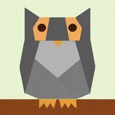 Owl paper pieced block Pattern