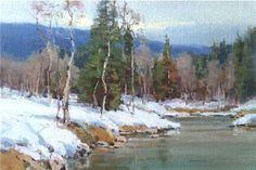 decor paint, artsnowscap paint, contemporari art, secret snow, art snow, scott christensen, april grey