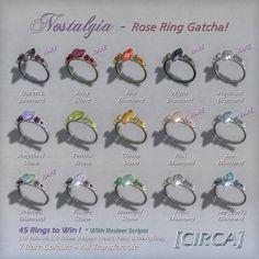 Nostalgia - Rose Ring Gatcha ring gatcha, roses, rose ring, nostalgia