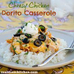 Cheesy Chicken Dorito Casserole - Real Mom Kitchen