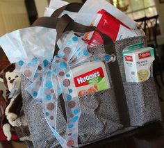 Cute Baby Shower Gift by Thirty-One! Using our Organizing Utility Tote.