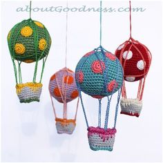 Free pattern for Amigurumi Hot Air Balloons...how fun!.