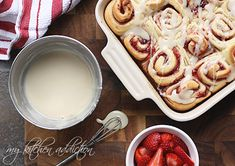 A Bun in the Oven… Sweet Strawberry Buns and an Announcement | my kitchen addiction