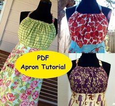EASY PDF APRON Pattern - Beginner's Pattern - Urban Chic Apron