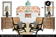 Moroccan Bedroom e-design, created by The Every Design. Custom and pre-made e-design packages for your home!