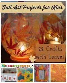 Fall Art Projects for Kids: 22 Crafts with Leaves. I can't wait for the leaves to turn! These autumn crafts are gorgeous. | AllFreeKidsCrafts.com