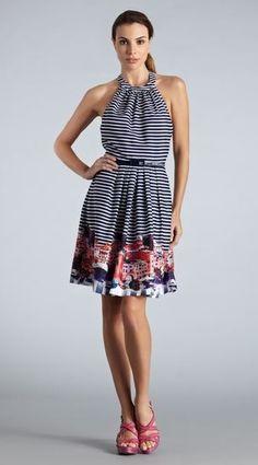 Stripe Halter Dress