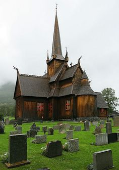 Lom Stave Church, Lom, Norway. They still have services here. I think getting married in a medieval church would be pretty cool.