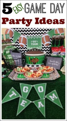 5 easy and inexpensive Super Bowl party ideas + free printables! See more party ideas at CatchMyParty.com. #football #partyideas