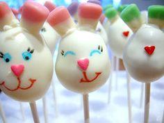 Smiling Easter Bunny Cake Pops