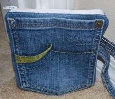 Recycled Jeans Pocket Pouch