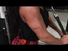 Latia gym tricep pushdowns