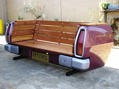 yard, outdoor benches, glider, tailgate bench