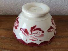 Old Bowl /ancien bol  DIGOIN DECOR A LA ROSE  BORDEAUX     MAI14H