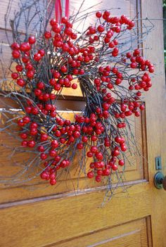 Red Berry Wreath Christmas Wreath Front Door by JPotterBlooms, $49.00