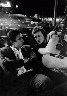 Johnny Cash and Gordon Lightfoot, 1969.