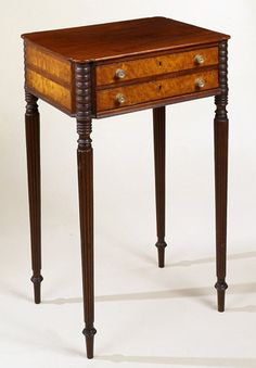 Attributed to John and Thomas Seymour  Federal inlaid mahogany work table  Boston, Massachusetts, circa 1810  Private collection