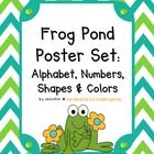 Frog Pond Themed Classroom Poster Bundle. Your little froggies will love this classroom decor pack featuring chevrons, polka dots and your favorite amphibians ~ includes all the resource posters you need to set up your class!