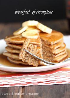 Whole Wheat Banana- Cinnamon Pancakes