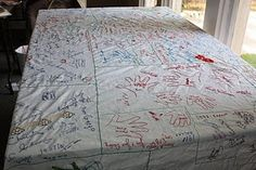 Thanksgiving Tablecloth.. have your family add to it each year
